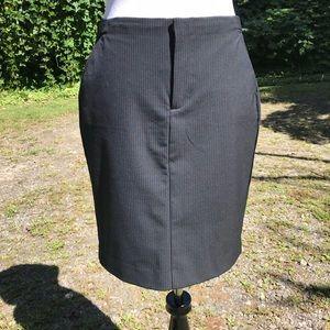 R Pencil Skirt PinStriped Career Stretch Sz 2